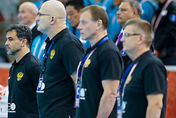 13-12-2019 JAP: Semi Final Netherlands - Russia, Kumamoto<br /> The Netherlands beat Russia in the semifinals 33-22 and qualify for the final on Sunday in Park Dome at 24th IHF Women's Handball World Championship / Coach Ambrosio Jose A Martin Cedres of Russia