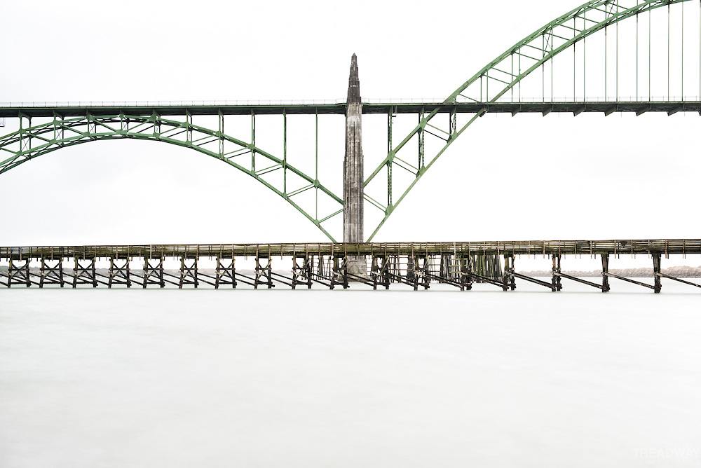 My minimalist take on the Yaquina Bay Bridge in Newport, Oregon.