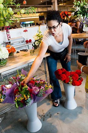 Blue Iris, the Eastern Market florist, now has a booth in the Union Market as well.