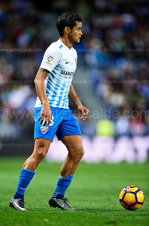 MALAGA, SPAIN - DECEMBER 09:  Roberto Rosales of Malaga CF in action during La Liga match between Malaga CF and Granada CF at La Rosaleda Stadium December 9, 2016 in Malaga, Spain.  (Photo by Aitor Alcalde Colomer/Getty Images)