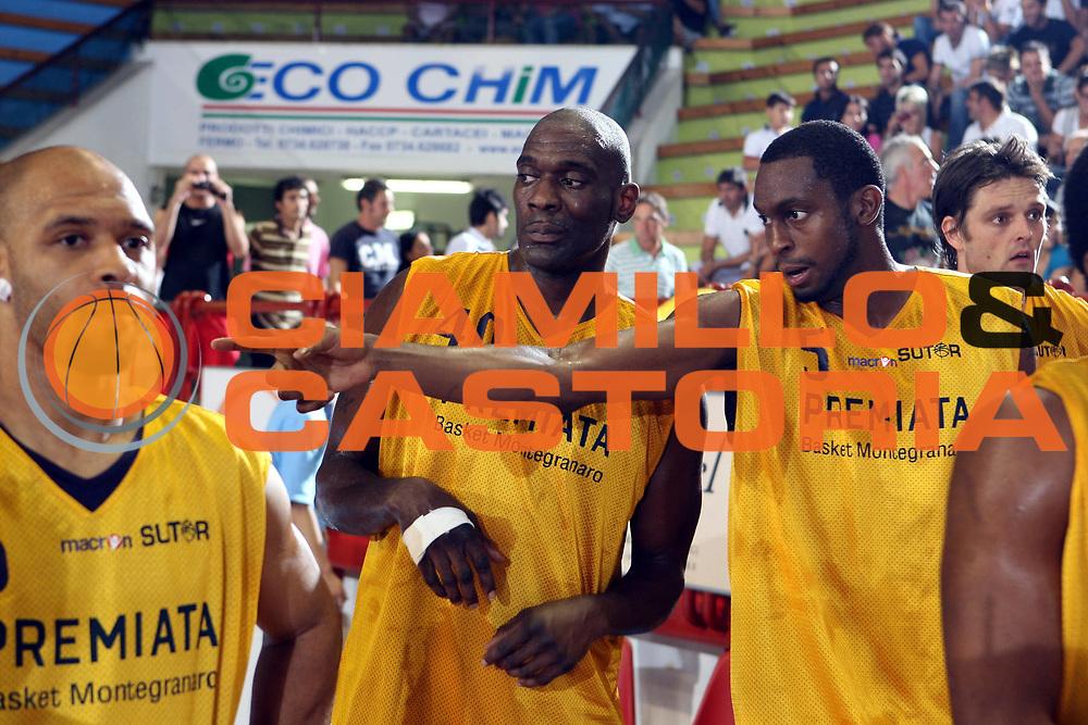 DESCRIZIONE : Porto San Giorgio Lega A1 2008-09 Amichevole Premiata Montegranaro Carife Ferrara<br />GIOCATORE : Shawn Kemp Darius Rice<br />SQUADRA : Premiata Montegranaro<br />EVENTO : Campionato Lega A1 2008-2009<br />GARA : Premiata Montegranaro Carife Ferrara<br />DATA : 11/09/2008<br />CATEGORIA : Ritratto <br />SPORT : Pallacanestro<br />AUTORE : Agenzia Ciamillo-Castoria/G.Ciamillo