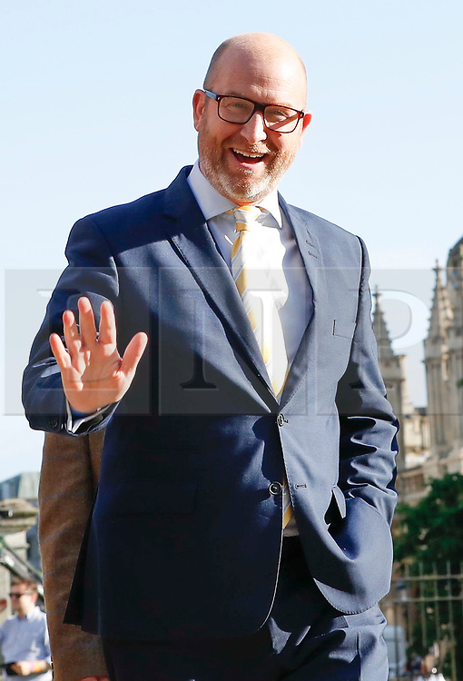 © Licensed to London News Pictures. 31/05/2017. Cambridge, UK. UKIP leader PAUL NUTTALL arrives at Senate House in Cambridge ahead of a leaders debate on BBC one. Recent polls have show a closing in the gap between the Labour Party and Conservative Party, in what was expected to be a landslide general election victory for the Conservatives. Photo credit: Peter Macdiarmid/LNP