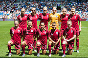 England Team ahead of the FIFA Women's World Cup UEFA warm up match between England Women and New Zealand Women at the American Express Community Stadium, Brighton and Hove, England on 1 June 2019.
