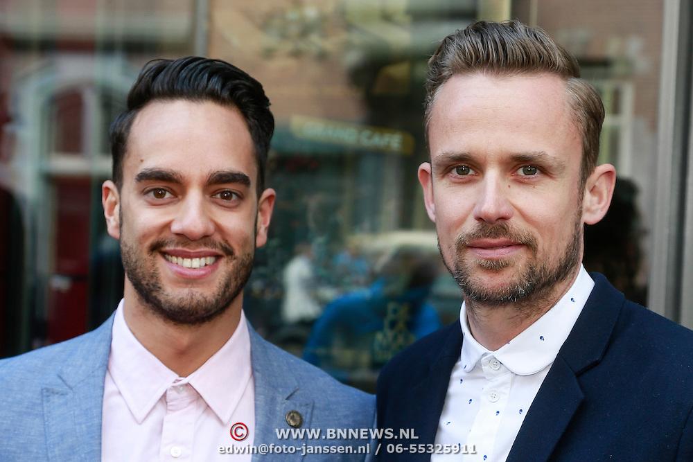 NLD/Amsterdam/20130428 - Premiere Jon en de Jongens, Freek Bartels en partner Parick Martens