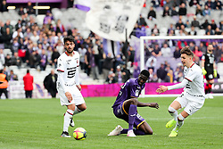 May 5, 2019 - Toulouse, FRANCE - 26 KALIDOU SIDIBE (TOU) - 08 CLEMENT GRENIER  (Credit Image: © Panoramic via ZUMA Press)