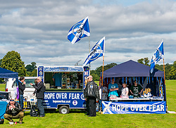 Pictured: All Under One Banner Independence March, Perth,  Scotland, United Kingdom, 07 September 2019. Independence supporters march through Perth in the latest All Under One Banner (AUOB) march of this year. The last march for 2019 is planned in Edinburgh next month. The rally point on North Inch.<br /> Sally Anderson | EdinburghElitemedia.co.uk