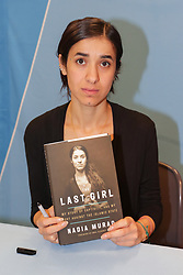 November 10, 2017 - New York, NY, USA - United Nations, New York, USA, November 10 2017 - Nadia Murad, UNODC (UN Office on Drugs and Crime) Goodwill Ambassador for the Dignity of Survivors of Human Trafficking, details her fight against the Islamic State in Iraq and the Levant (ISIL) as part of a panel discussion on trafficking in persons and the Lunching of her Book '' The Last Girl: My Story of Captivity, and My Fight Against the Islamic State'' today at the UN Headquarters in New York City. .Photo: Luiz Rampelotto/EuropaNewswire (Credit Image: © Luiz Rampelotto/ZUMA Wire)