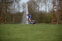 Melissa Lowther (GBR) of Team GB starts Stage 1a of the Healthy Ageing Tour - a 16.9 km time trial, starting and finishing in Leek on April 5, 2017, in Groeningen, Netherlands.