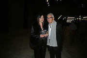 VIDAL AND RONNIE SASSOON, Doris Salcedo  installation and Louise Bourgeois - private view. Dinner afterwards for the Louise Bourgeois exhibition. Tate Modern, London, SE1,-DO NOT ARCHIVE-© Copyright Photograph by Dafydd Jones. 248 Clapham Rd. London SW9 0PZ. Tel 0207 820 0771. www.dafjones.com.