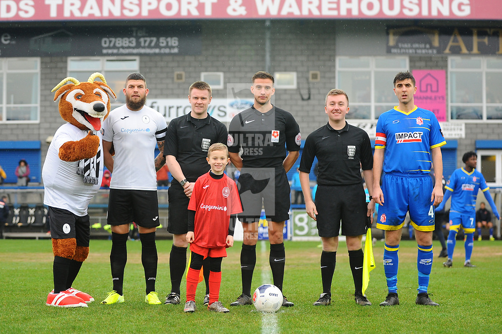 TELFORD COPYRIGHT MIKE SHERIDAN mascot during the Vanarama Conference North fixture between AFC Telford United and Alfreton Town at the New Bucks Head Stadium on Thursday, December 26, 2019.<br /> <br /> Picture credit: Mike Sheridan/Ultrapress<br /> <br /> MS201920-036