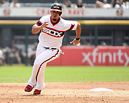 CHICAGO - JULY 15:  Jose Abreu #79 of the Chicago White Sox runs the bases against the Kansas City Royals on July 15, 2018 at Guaranteed Rate Field in Chicago, Illinois.  (Photo by Ron Vesely)  Subject: Jose Abreu