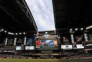 Apr. 7, 2012; Phoenix, AZ, USA; Crew members at Chase Field. The Arizona Diamondbacks host the  San Francisco Giants at Chase Field.  Mandatory Credit: Jennifer Stewart-US PRESSWIRE..