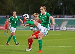 NEWPORT, WALES - Tuesday, September 3, 2019: Northern Ireland's Sarah McFadden during the UEFA Women Euro 2021 Qualifying Group C match between Wales and Northern Ireland at Rodney Parade. (Pic by David Rawcliffe/Propaganda)