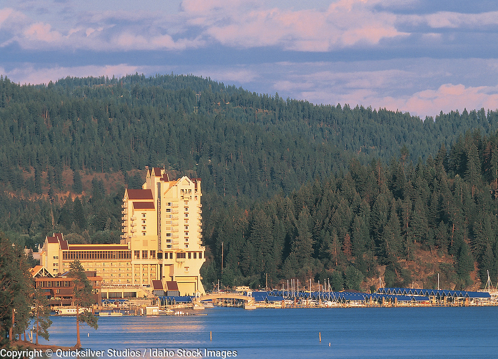 Idaho,  Coeur dAlene Resort, Late sunset