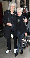 Brian May, Anita Dobson, The Ivor Novello Awards, Grosvenor House, London UK, 21 May 2015, Photo by Richard Goldschmidt