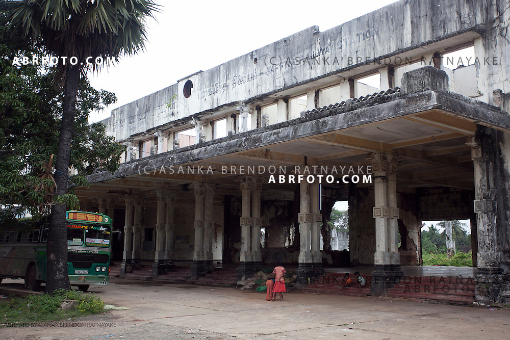The now abandoned Jaffna railway station which was dismantled during the war is now home to some of Jaffna's homeless.