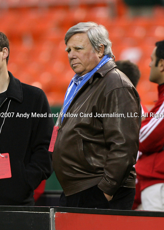 14 April 2007: Pat Curran, a partner in OnGoal, LLC., the new owners of the Kansas City Wizards.  DC United lost 4-2 to the Kansas City Wizards at RFK Stadium in Washington, DC in their Major League Soccer 2007 regular season home opener.
