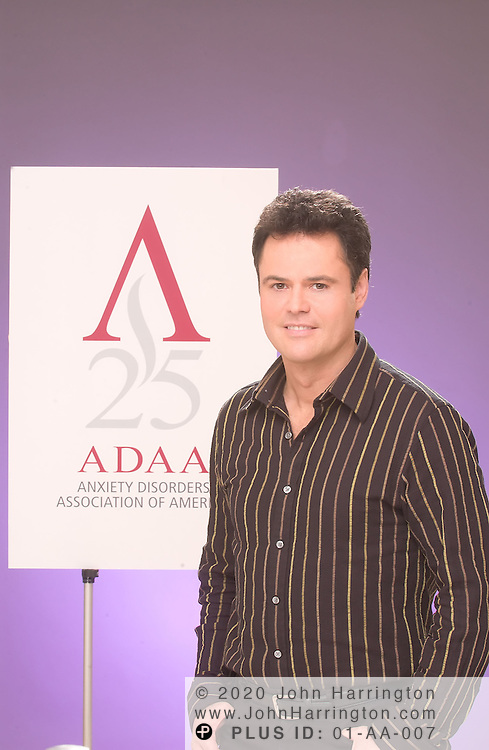 Former child star and current Broadway star Donny Osmond poses for a photo.