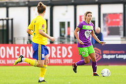 Gemma Evans of Bristol City is marked by Hayley Ladd of Birmingham City Women - Mandatory by-line: Ryan Hiscott/JMP - 14/10/2018 - FOOTBALL - Stoke Gifford Stadium - Bristol, England - Bristol City Women v Birmingham City Women - FA Women's Super League 1