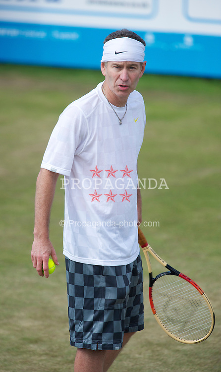 LIVERPOOL, ENGLAND - Saturday, June 19, 2010: John McEnroe (USA) on day four of the Liverpool International Tennis Tournament at Calderstones Park. (Pic by David Rawcliffe/Propaganda)