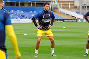 AFC Wimbledon defender Will Nightingale (5) warming up  during the EFL Sky Bet League 1 match between Coventry City and AFC Wimbledon at the Trillion Trophy Stadium, Birmingham, England on 17 September 2019.