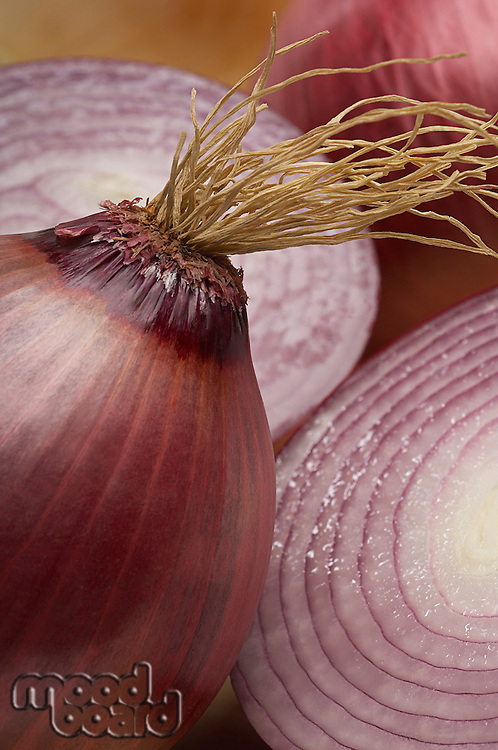 Red onion, close-up