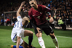 October 9, 2017 - Turku, Finland - Turkey's Cenk Tosun (scored twice) in action during the FIFA World Cup 2018 qualification football match between Finland and Turkey in Turku, Finland on October 9, 2017. (Credit Image: © Antti Yrjonen/NurPhoto via ZUMA Press)