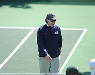 Ole Miss tennis coach Billy Chadwick vs. Baylor at the Palmer/Salloum Tennis Center in Oxford, Miss. on Thursday, March 14, 2013.