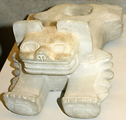Calcite Onyx Ocelot offering vessel. Teotihuacan, 150 BC-AD 750. British Museum.