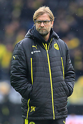 01.03.2014, Signal Iduna Park, Dortmund, GER, 1. FBL, Borussia Dortmund vs 1. FC Nuernberg, 23. Runde, im Bild Trainer Juergen Klopp (Borussia Dortmund) nachdenklich, konzentriert, fokussiert // during the German Bundesliga 23th round match between Borussia Dortmund and 1. FC Nuernberg at the Signal Iduna Park in Dortmund, Germany on 2014/03/01. EXPA Pictures © 2014, PhotoCredit: EXPA/ Eibner-Pressefoto/ Schueler<br /> <br /> *****ATTENTION - OUT of GER*****