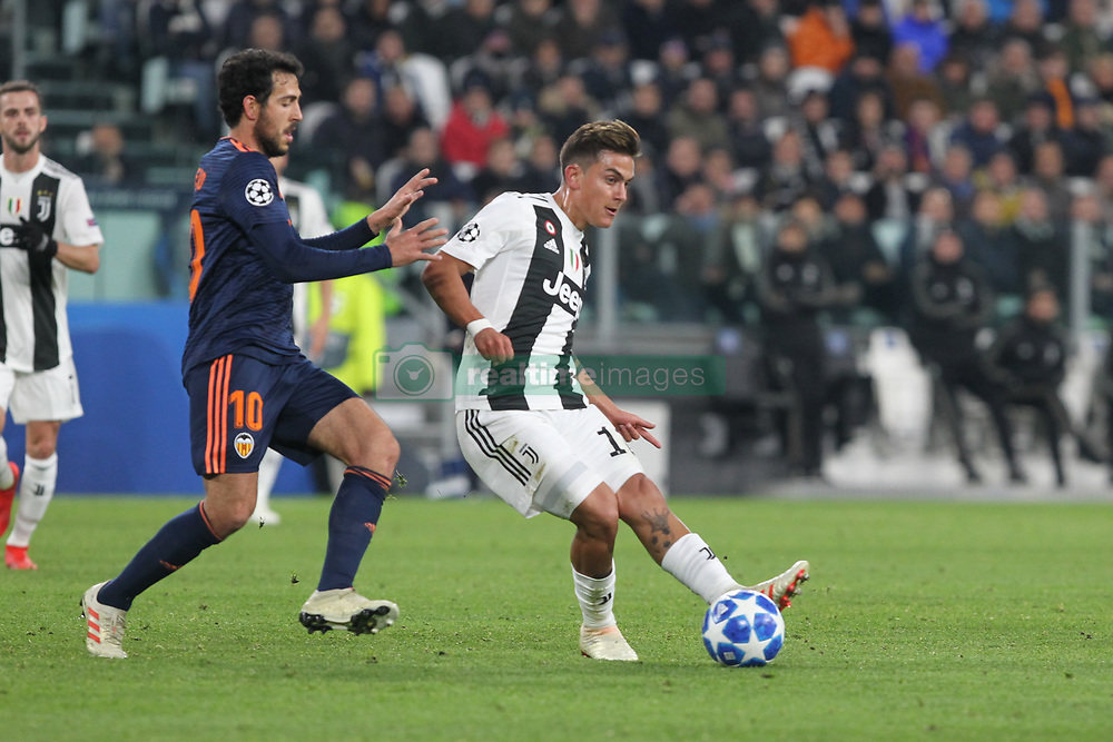 November 27, 2018 - Turin, Piedmont, Italy - Paulo Dybala (Juventus FC)  and Dani Parejo (Valencia CF) during the UEFA Champions League match between Juventus FC and Valencia CF, at Allianz Stadium on November 27, 2018 in Turin, Italy. .Juventus won 1-0 over Valencia. (Credit Image: © Massimiliano Ferraro/NurPhoto via ZUMA Press)
