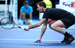 November 13, 2017 - London, England, United Kingdom - Jamie Murray (GBR) and Bruno Soares (BRA) against Bob Bryan (USA)and Mike Bryan (USA).during Day Two of the Nitto ATP World Tour  Finals played at The O2 Arena, London on November 13 2017  (Credit Image: © Kieran Galvin/NurPhoto via ZUMA Press)