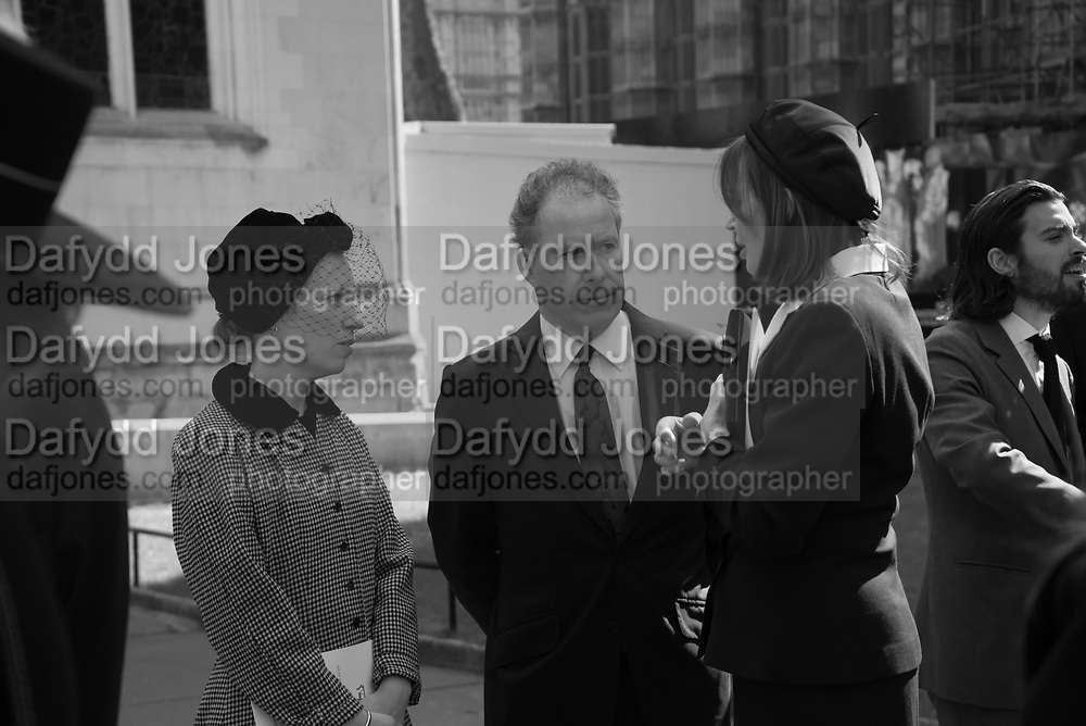 LADY FRANCES VON HOFMANSTHALL; THE EARL OF SNOWDON; ; LUCY LINDSAY-HOGG Service of thanksgiving for  Lord Snowdon, St. Margaret's Westminster. London. 7 April 2017
