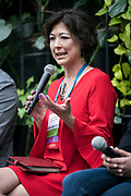 Chandra Miller-Fienen from StartingBlock at the Wisconsin Entrepreneurship Conference at Venue 42 in Milwaukee, Wisconsin, Tuesday, June 4, 2019.