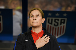 September 19, 2017 - Cincinnati, OH, USA - Cincinnati, OH - Tuesday September 19, 2017: Jill Ellis during an International friendly match between the women's National teams of the United States (USA) and New Zealand (NZL) at Nippert Stadium. (Credit Image: © Brad Smith/ISIPhotos via ZUMA Wire)