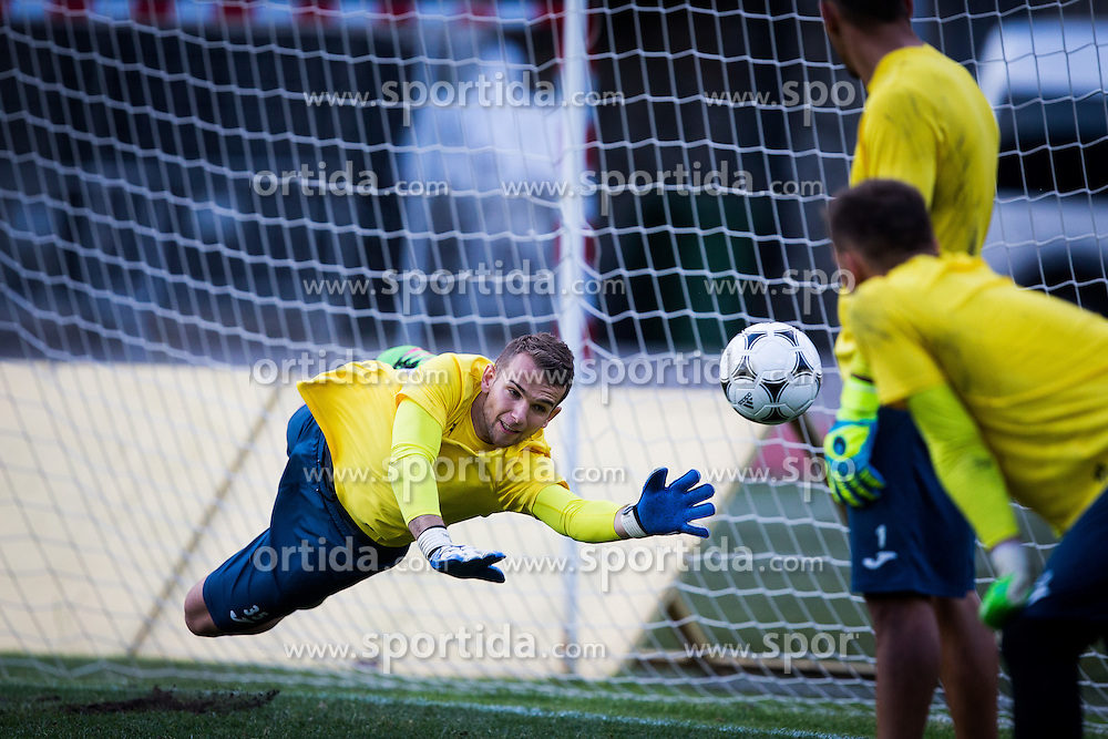 Axel Maraval of NK Domzale during practice session before football match between NK Domzale and FC Lusitanos Andorra in second leg of UEFA Europa league qualifications on July 6, 2016 in Andorra la Vella, Andorra. Photo by Ziga Zupan / Sportida