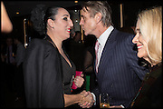 ROSSY DE PALMA; JEREMY IRONS  Liberatum Cultural Honour for Francis Ford Coppola<br /> with Bulgari Hotel & Residences, London. 17 November 2014