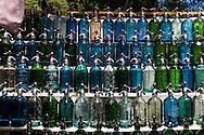 Argentina. Buenos Aires. syphoon water bottle sunday market . Dorrego square, SAN TELMO historical area  Buenos Aires -    / syphons, bouteille eau soda, marche du dimanche . place Dorrego , quartier historique SAN TELMO  Buenos Aires - Argentine  R022