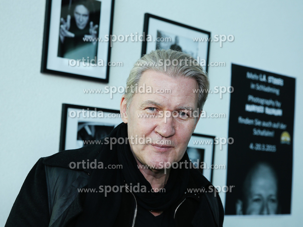 03.03.2015, Planet Planai, Schladming, AUT, Vernissage der Ausstellung L.A. Stories von Starfotograf Manfred Baumann, im Bild der Saenger und Song Contest Gewinner Johnny Logan // during the vernissage of the exhibition L.A. Stories by photographer Manfred Baumann in the Planet Planai, Schladming, Austria on 2015/03/03. EXPA Pictures © 2015, PhotoCredit: EXPA/ Martin Huber