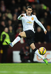 Manchester United's Angel Di Maria volleys towards goal  - Photo mandatory by-line: Joe Meredith/JMP - Mobile: 07966 386802 - 20/12/2014 - SPORT - football - Birmingham - Villa Park - Aston Villa v Manchester United - Barclays Premier League