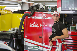 July 20, 2018 - Loudon, New Hampshire, United States of America - Ryan Reed (16) hangs out in the garage prior to final practice for the Lakes Region 200 at New Hampshire Motor Speedway in Loudon, New Hampshire. (Credit Image: © Justin R. Noe Asp Inc/ASP via ZUMA Wire)