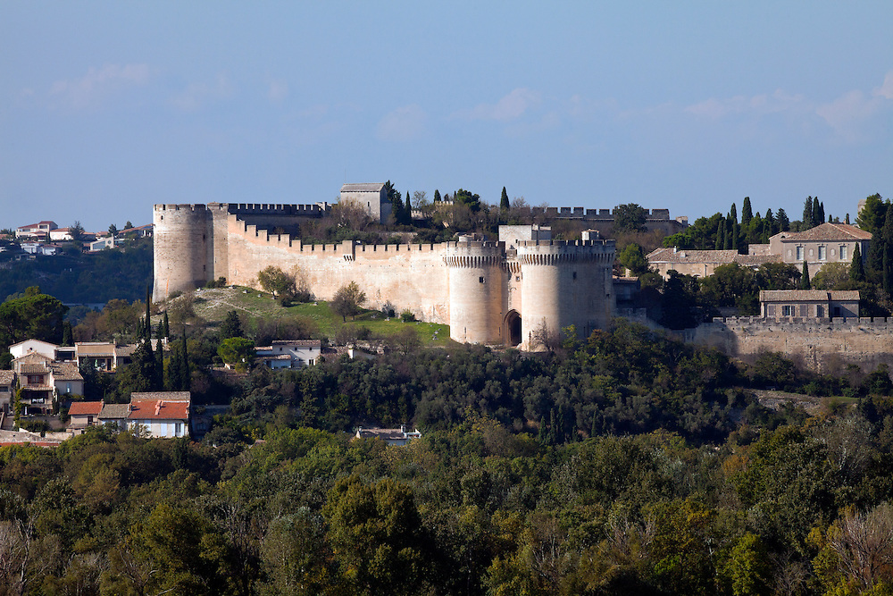 Built in the first half of the 14th century and surrounding an abbey that dates from the late 10th century, the defense walls of Fort Saint-Andre dominate the view east from the town of Avignon.