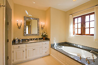 Luxurious bathroom interior of mansion