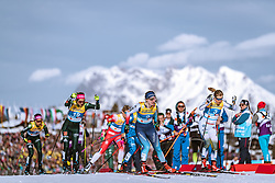 21.02.2019, Langlauf Arena, Seefeld, AUT, FIS Weltmeisterschaften Ski Nordisch, Seefeld 2019, Langlauf, Damen, Sprint, im Bild v.l.: Laura Gimmler (GER), Nadine Faehndrich (SUI), Hanna Falk (SWE) // f.l.: Laura Gimmler of Germany Nadine Faehndrich of Switzerland Hanna Falk of Sweden during the ladie's Sprint competition of the FIS Nordic Ski World Championships 2019. Langlauf Arena in Seefeld, Austria on 2019/02/21. EXPA Pictures © 2019, PhotoCredit: EXPA/ Dominik Angerer