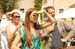 AMBER LE BON at a luncheon hosted by Cartier for their sponsorship of the Style et Luxe part of the Goodwood Festival of Speed at Goodwood House, West Sussex on 4th July 2010.