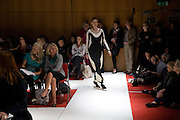 Clothes designed by Rie Munthe Rammessenn, Fashioning the Future. Sustainable Fashion show Winners of Adidi.com student design competition announced. London College of Fashion. Princes St. London. 27 October 2008.  *** Local Caption *** -DO NOT ARCHIVE-© Copyright Photograph by Dafydd Jones. 248 Clapham Rd. London SW9 0PZ. Tel 0207 820 0771. www.dafjones.com.