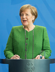 19.02.2018, Bundeskanzleramt, Berlin, GER, Bettel bei Merkel, im Bild Deutschlands Bundeskanzlerin Angela Merkel // Angela Merkel (Christian Democratic Party - CDU) at the Bundeskanzleramt in Berlin, Germany on 2018/02/19. EXPA Pictures © 2018, PhotoCredit: EXPA/ Eibner-Pressefoto/ Uwe Koch<br /> <br /> *****ATTENTION - OUT of GER*****