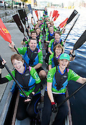 Repro Free: 12/10/2014 The Plurabelle Paddlers 'Team Ireland' went through their final preparations this weekend ahead of the International Breast Cancer Paddlers Commission 2014 Dragon Boat Festival in Sarasota, Florida from 24th-26th October. The 25 strong team, made up of members from Carlow, Cork, Clonmel, Donegal, Dublin, Waterford and Northern Ireland, all diagnosed with breast cancer, will be one of just 96 teams registered to take part from around the world at the festival, and will participate in the 500m category. For more information visit www.plurabellepaddlers.com . Picture Andres Poveda