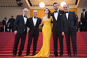 Thierry Fremau, Producer Jeffrey Katzenberg, Actors Justin Timberlake and Anna Kendrick and President of the festival Pierre Lescure - 69TH CANNES FILM FESTIVAL 2016 - OPENING OF THE FESTIVAL WITH ' CAFE SOCIETY '<br /> ©Exclusivepix Media