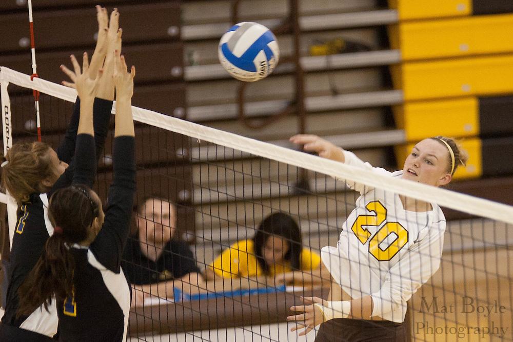 2010 October 26: Rowan University Women's Volleyball defeats Goucher College 3-2.